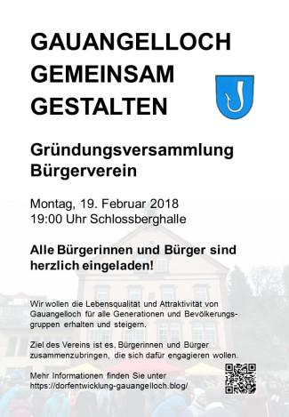 Plakatgründungsversammlung 19 Februar 2018